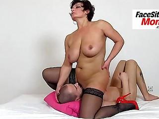Bonny lady Koko hot legs high heels stockings and facesitting