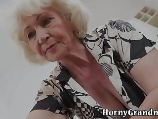 Mature grannys frowardness cum