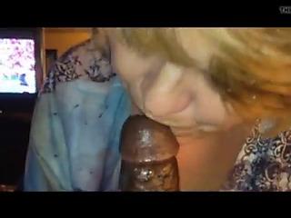 Interracial granny worships bbc